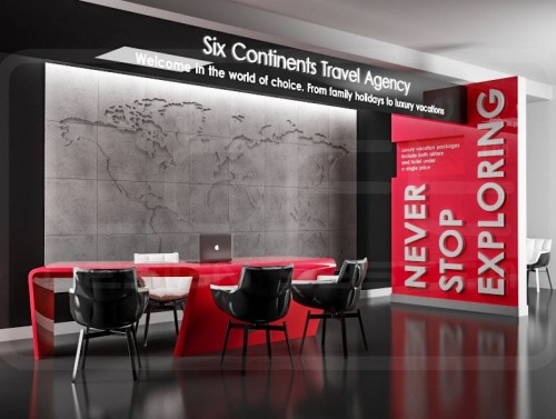 CONCRETE MAP OF THE WORLD KOMPLET Panel dekoracyjny 3D Loft System